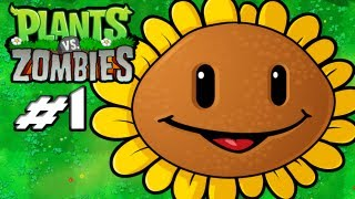 Plants Vs. Zombies Gameplay Walkthrough Part 1