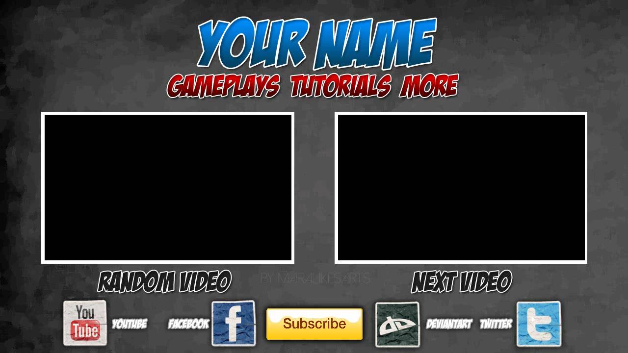 Free outro template 0005 2d paint net photoshop for Free outro template