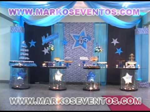 15 a os melanie decoracion turqueza con estrellas for Decoracion de 15 anos en casa