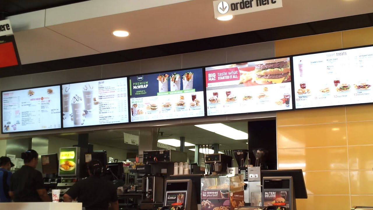 Review Of Mcdonald S New Digital Menu Boards Youtube
