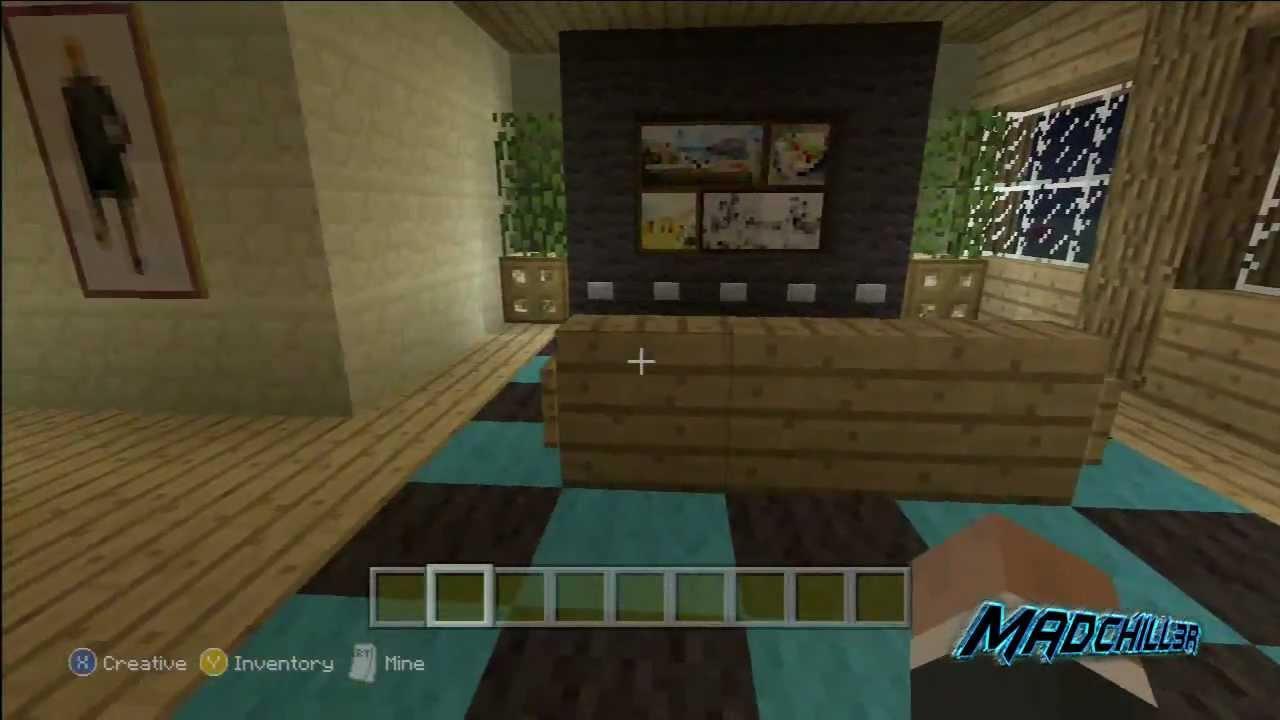 Minecraft creations living room den minecraft xbox 360 for Minecraft living room ideas xbox