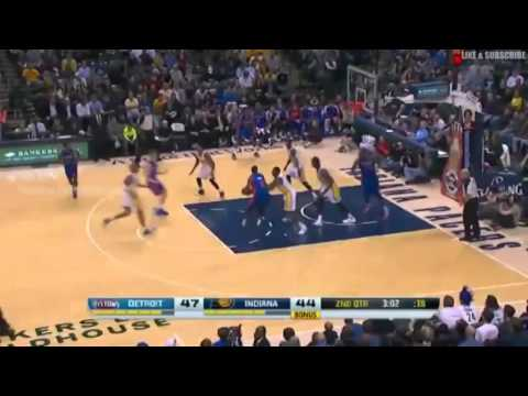 Detroit Pistons vs Indiana Pacers   December 16  2013   1st Half Highlights   NBA 2013 14 Season