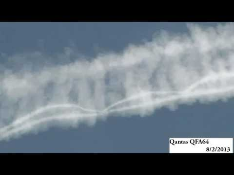 TREASONOUS QANTAS AIRLINES SPRAYING CHEMTRAILS ON INNOCENT PEOPLE