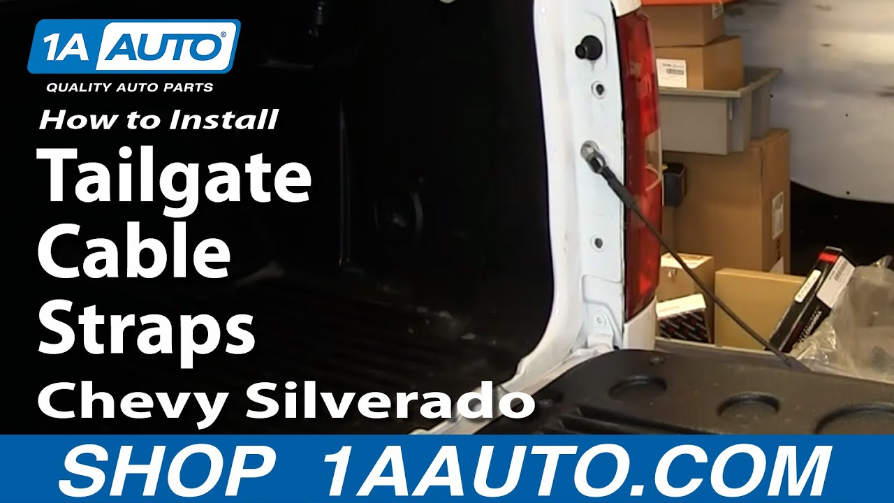 How To Install Replace Tailgate Cable Straps 2007 13 Chevy