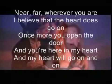 titanic (my heart will go on) celine dion ~ lyrics! - YouTube