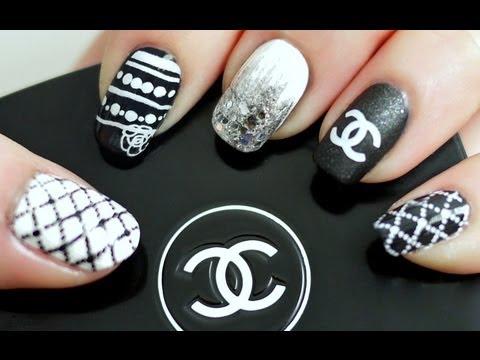 Black & White Chanel Inspired Nail Tutorial