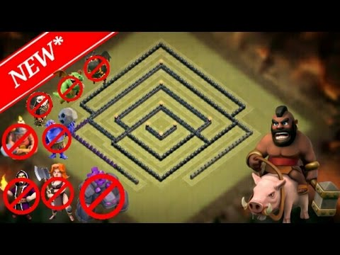 NEW TH 9 (TOWN HALL 9) WAR BASE 2017 | ANTI ALL TROOP | REPLAY PROOF | CLASH OF CLANS