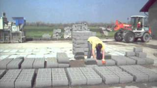 Block Production At Blokar SVP-12 Proizvodnja Blokova .AVI
