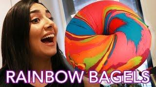 We Tried Instagram Rainbow Bagels • Saf & Tyler