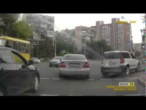 Наезд на пешехода Киев 12 августа 2015 года (сбили на зебре)
