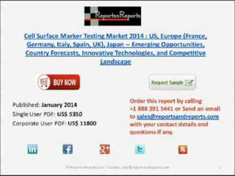 CD4, CD8 and CD34 Cell Surface Marker Testing Industry 2014 Country Forecast and Analysis