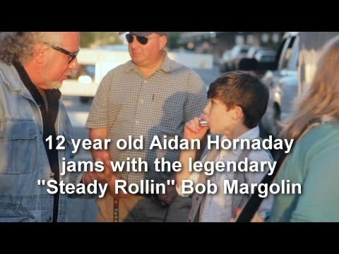 Aidan Hornaday - Aidan Cares - Jamming with Steady Rollin' Bob Margolin - Savannah, GA