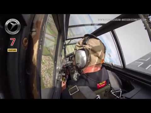 Flying Bf 109 G-4 Red 7 / Restored after Roskilde Airshow crash. Fly with the pilot / MUST SEE!!