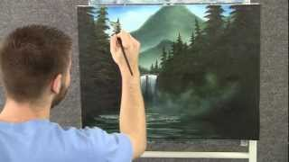 Paint With Kevin Hill Misty Waterfall