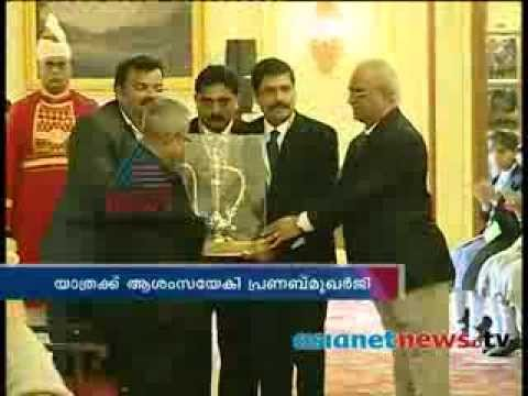 Asianet News Proud to be an Indian team visit president Pranab Mukherjee