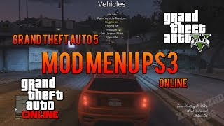 GTA 5 Online Mod Menu PS3 + Download Link!