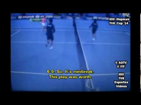 Radwanska / Panfil vs Stosur / Tomic - Hopman Cup 2014 - Funny Moments