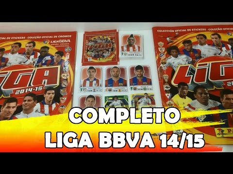 Vídeo 40 - Álbum COMPLETO Liga Espanhola 2014-2015 -  MY PANINI ALBUM Liga Espanhola 2014-15