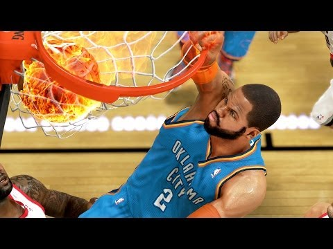 NBA 2K14 Next Gen MyCareer Playoffs #64 - Damian Lillard Is KILLING Us!