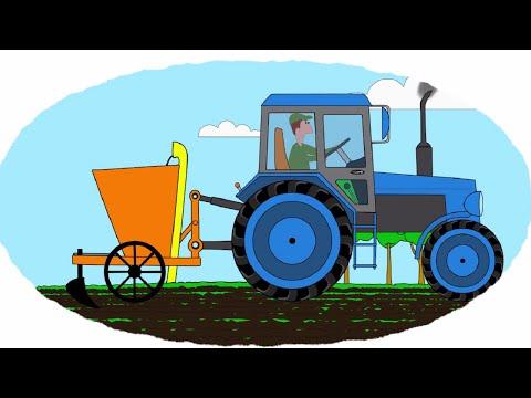 Раскраска тракторные прицепы 2