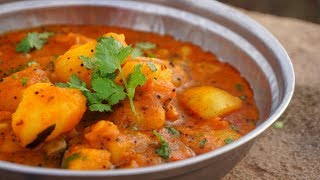 Shaak Bhaat   Delicious INDIAN CURRY With Rice   Traditional INDIAN LUNCH COOKING