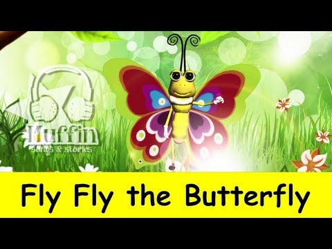 Fly Fly the Butterfly | nursery rhymes & children songs with lyrics