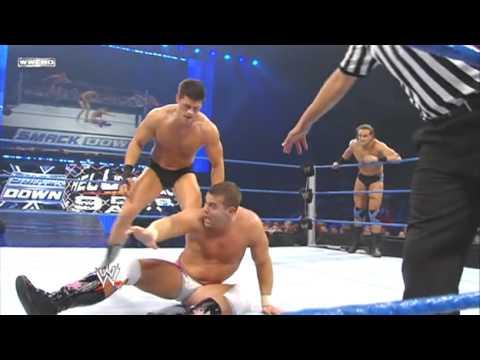 WWE SmackDown 9/24/10 Cody Rhodes & Drew McIntery vs. The Hart Dynasty (HQ)