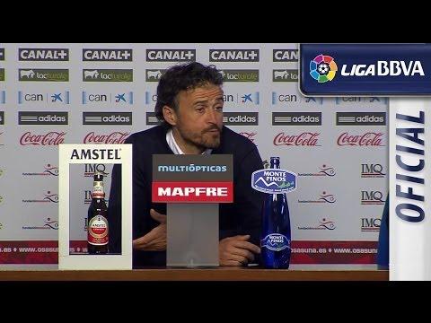 Press Conference Luis Enrique after Osasuna (0-2) Celta de Vigo - HD