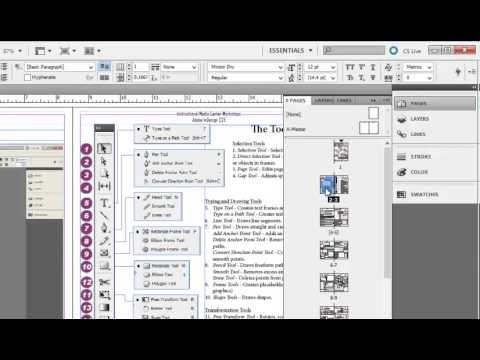 how to put page numbers indesign