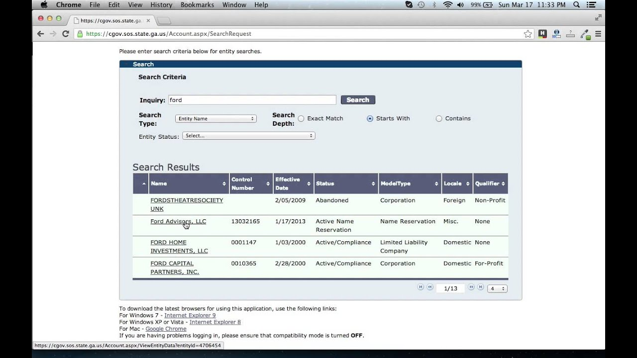 Search for Corporations, Limited Liability Companies ...