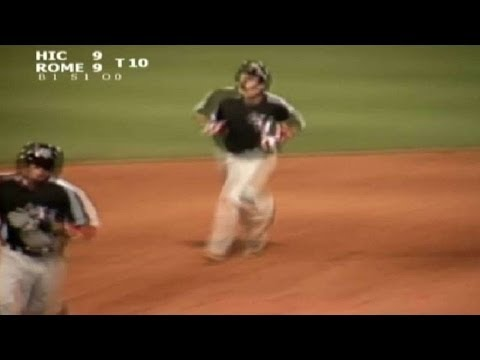 Hickory's Gallo slugs two-run homer
