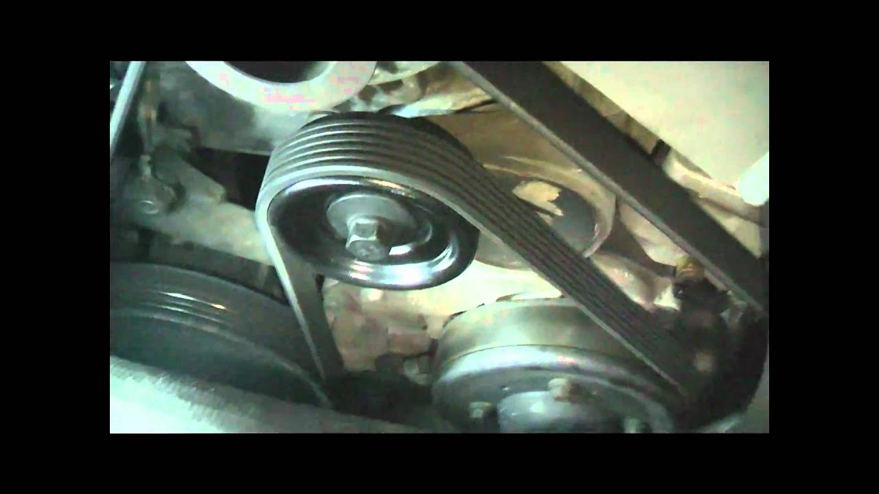 how to change power steering belt on aveo 2009 1.6