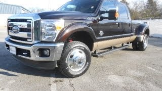SOLD!!! 2013 FORD F-350 CREWCAB LARIAT DUALLY 4X4 KODIAK BROWN 6.7 FORD OF MURFREESBORO 888-439-1265 videos