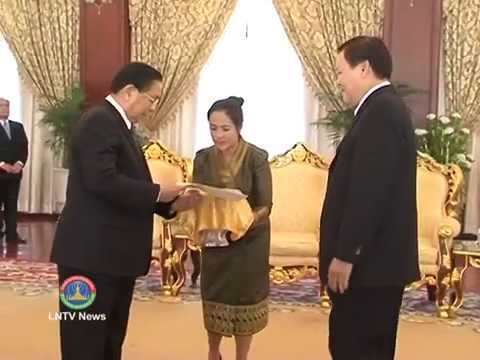 Lao NEWS on LNTV: The President appoints Lao ambassador to UK & Cambodia.21/5/2014
