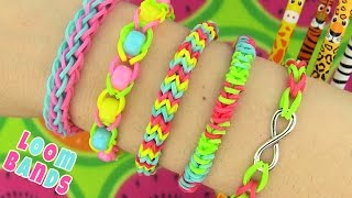 How To Make Loom Bands. 5 Easy Rainbow Loom Bracelet