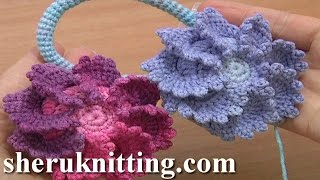 Big Crochet Button Fastener Tutorial 4 Part 2 Of 3 Crochet