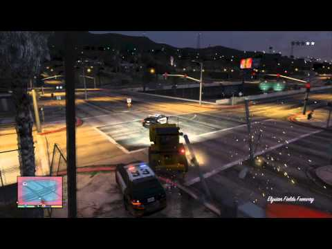 [GRAND THEFT AUTO 5 - TROLL THE POLICE] - How to f**k the police in Los Santos!