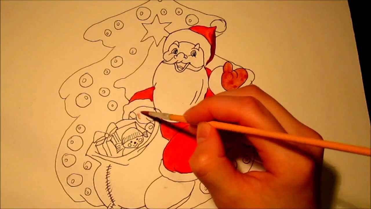 How to draw : Santa Claus...! - YouTube