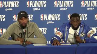 Kevin Durant & Draymond Green Postgame Press Conference | Spurs vs Warriors | NBA Playoffs Game 1