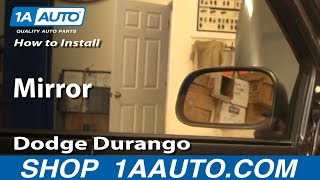 How To Install Replace Side Rear View Mirror Dodge Durango