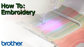 Brother™ PE-500 Embroidery Machine Project Tutorial