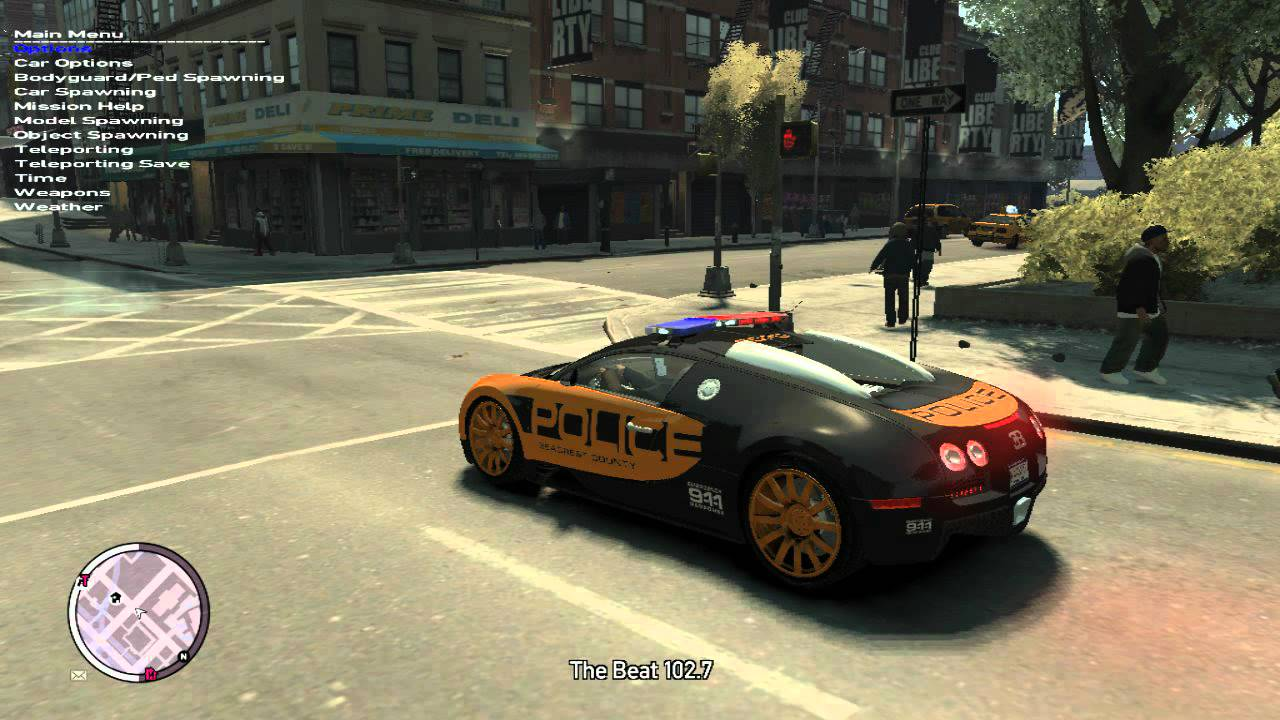 gta iv bugatti veyron 16 4 police nfs hot pursuit mod youtube. Black Bedroom Furniture Sets. Home Design Ideas