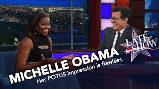 First Lady Michelle Obama Does Her Best Barack Impression