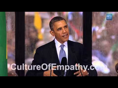 Obama Speaks about Ubuntu & Empathy at Nelson Mandela Memorial Service