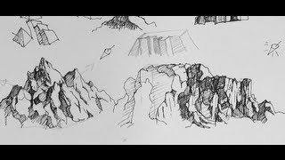 Pen & Ink Drawing Tutorials How To To Draw Mountains