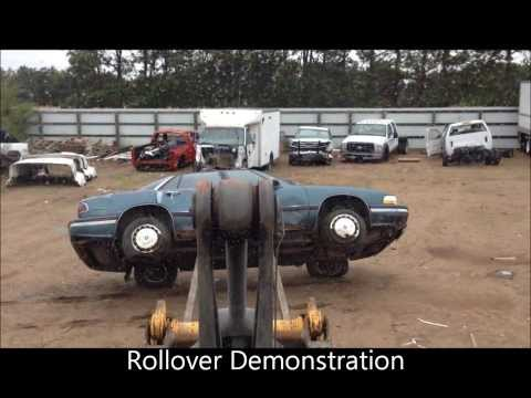 Car Rollover Demonstration For Tow Truck Operator Accident Training