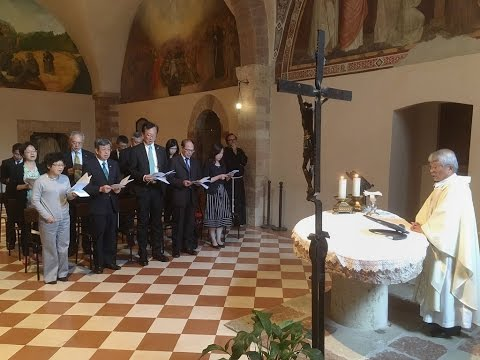 Vice President Chen prays for world peace in Assisi