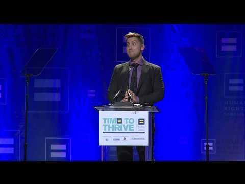 Lance Bass Receives the HRC Upstander Award