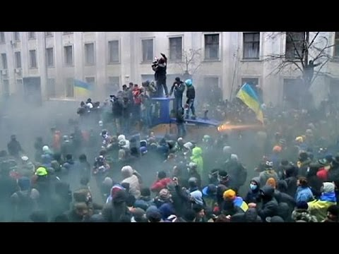 Ukraine: Violence flares at pro-Europe protest