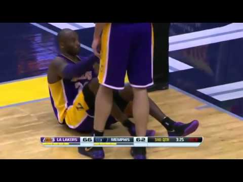 Kobe Bryant's Scary Moment For Lakers Fans | Lakers vs Grizzlies | December 17 - 2013 | NBA 2013/14
